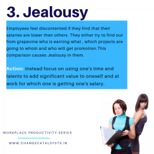 Jealousy at the workplace-Change Catalysts