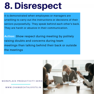 Disrespect at the Workplace- Change Catalysts
